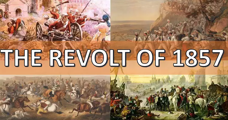 notes on revolt of 1857 for class 8